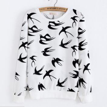 Fall and winter new Swallow sweater Long sleeve lady