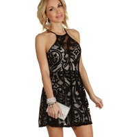 Black Its A Party Skater Dress
