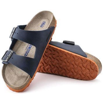 Sale Birkenstock Arizona Soft Footbed Birko Flor Desert Soil Blue 1005129/1005130 Sand