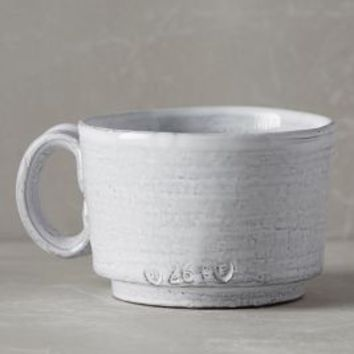 Glenna Mug by Anthropologie in White Size: Mug Mugs