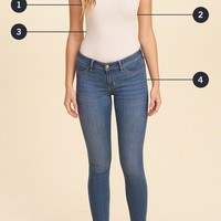 Girls Low-Rise Crop Jean Leggings | Girls Bottoms | HollisterCo.com
