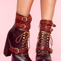 Andee Strapped Boot in Brown