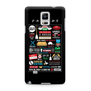 Friends TV Show Infographic Poster Samsung Galaxy Note 4 case