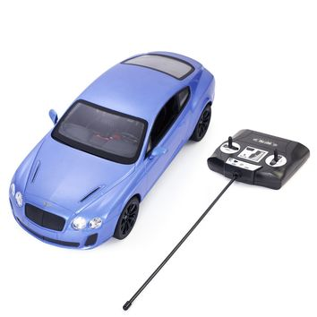 1/14 Bentley Continental GT Supersports Radio Remote Control RC Car Blue New