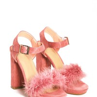 Killin' Me Softly Faux Fur Heel