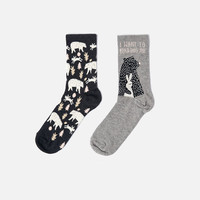 Bear and rabbit socks - OYSHO