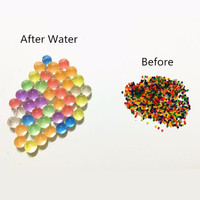 10 bags of Home Decor Pearl Crystal Soil Water Beads For Flower Bio Gel Ball Mud Grow Magic Jelly Balls Round Shaped Rainbow Wedding DIY