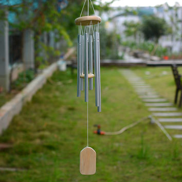 Antique Amazing Grace Deep Resonant 6 Tube Windchime Church Bells Wind Chimes Wall Hanging Home Dec