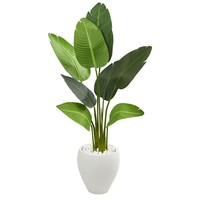 Artificial Tree -4 Foot Travelers Palm Tree in Oval Planter