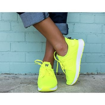 The Amanda Neon Sneaker - Green