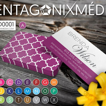 MOD0001 | Business cards / Cards with geometric pattern | Pentagonixmedia.com