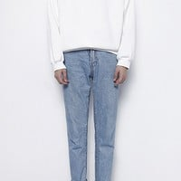 High Neck Essential Sweatshirt | White