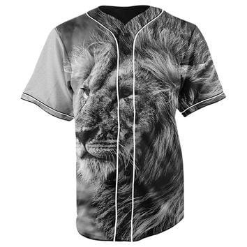 Lion Vibes V3 Button Up Baseball Jersey