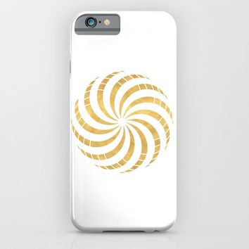 GOLD TORUS circular sacred geometry iPhone & iPod Case by deificus Art