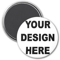 Create Your Own Custom 3 Inch Round Magnet
