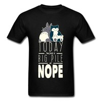 Big Pile Of Nope T Shirt Neighbor Totoro T-shirt Men  Tshirt Cartoon Tops Anime Tee Funny Clothing BlackKawaii Pokemon go  AT_89_9