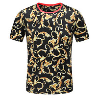 Versace Fashion Casual Print Shirt Top Tee