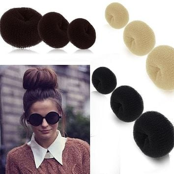 Novelty Updo Styling Doughnut Bun Ring Shaper Women Kids Girls Hair Styling Tool