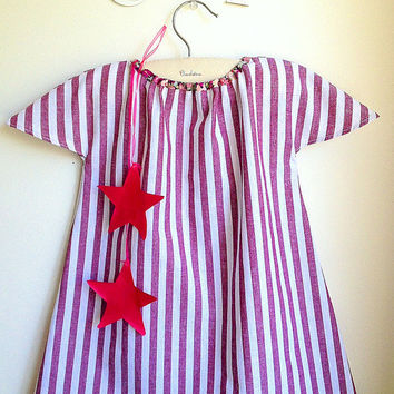 Girls Dress - Toddler Dress - French Style - Sizes for Babies, Toddlers and Girls from 1T to 6Y