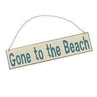 """Seaside """"Gone to the Beach"""" - Door Wall Hanging Cottage Wood Sign"""