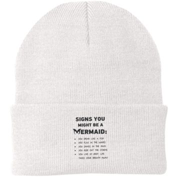 Signs You Might Be A Mermaid Knit Cap