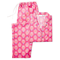 Bella Long Sleeve Pajamas, Pink, Pajamas
