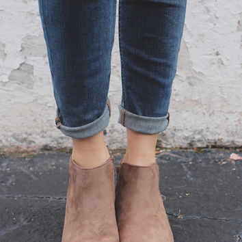 Be Mine Booties - Taupe