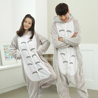 Pajama Sets Totoro Pyjamas Women Onesuits for Adults Pajamas My Neighbor Totoro Sleepwear Flannel Animal femme/kigurumi/mujer