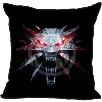 New Arrival Custom Pillow Case The Witcher 3 Wild Hunt Wolves Games Style  Pillowcase zipper 35x35 cm (One side)  F922