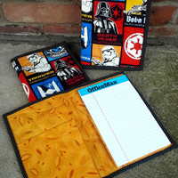 Star Wars Quilted Notebook Cover - Brightly Colored - Reuseable - Ready to Ship