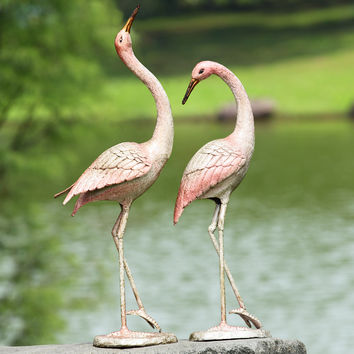 SPI Garden Collection -Flamboyant Cranes Garden Statue (Pair)