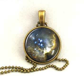 10 SALE Necklace Sky Galaxy Jewelry Universe Space by timegemstone