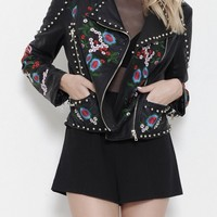 'Smell the Roses' Pleather Jacket