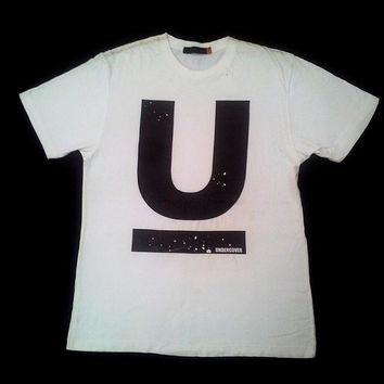 UNDERCOVER UNDERCOVERISM By Jun Takahashi Bape Hip Hop Swag White T shirt