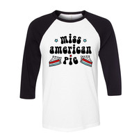 Miss American Pie Baseball Tee