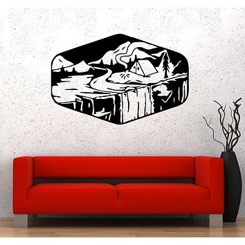 Wall Decal Nature Travel Camping Hiking Tent Adventure Vinyl Sticker (ed1683)