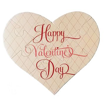 Valentine's Day Heart Puzzle Greeting Card