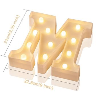 Christmas Luminous LED Night Light Creative English Letter Alphabet Number Gift Lamp Romantic Love Wedding Party Decoration