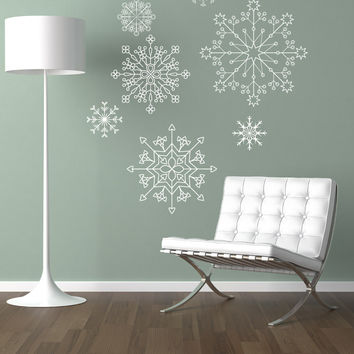 Vinyl Wall Decal Sticker Snowflakes #1262