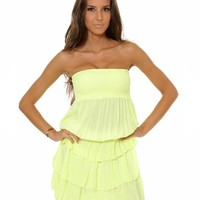 Carla Giannini Rock Strapless Ruffle Dress Made in Italy - Colorful Summer Staples, Made in Italy - Modnique.com