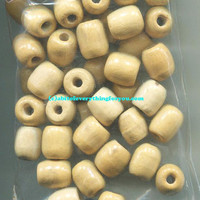 10 barrel beads wooden beads plain macrame bead lot unpainted big 12mm x 16mm Jewelry crafts
