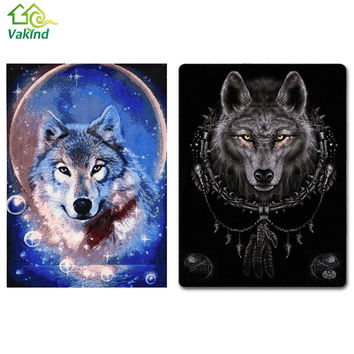 Icon Diamond Embroidery Wolf Mosaic Crystal 5D Cross Stitch Square Drill Diamond Painting DIY Sticker Decoration Paintings