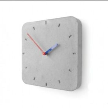 Square Concrete Wall Clock