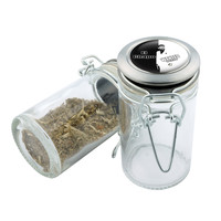 Glass Stash Jar - El Chapo Scarface - 75ml Storage Container - Secret Stash Box for Custom Herb Grinder - Stay Fresh Herbs 1/6 oz.