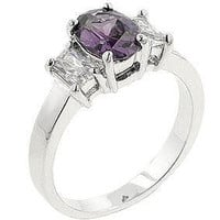 Lilac Engagement Ring, size : 05