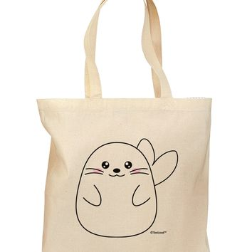 Cute Seal Grocery Tote Bag by TooLoud