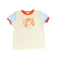 Mixed Stripes Kitty Tee | 4T