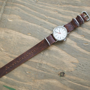 The C. Martin - Bison Leather NATO Watch Strap