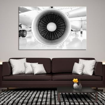 32733 - Large Wall Art Canvas Print, Close-up Photo of an Airplane Propeller Canvas Print, Interior Decor, Housewarming Gift, Office Decor