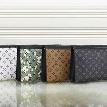 Louis Vuitton Women Fashion Leather Zipper Wallet Purse